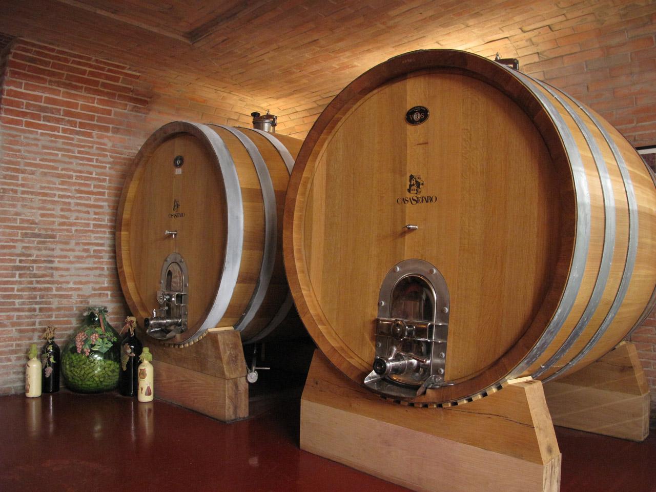 Casa Setaro botti di vino