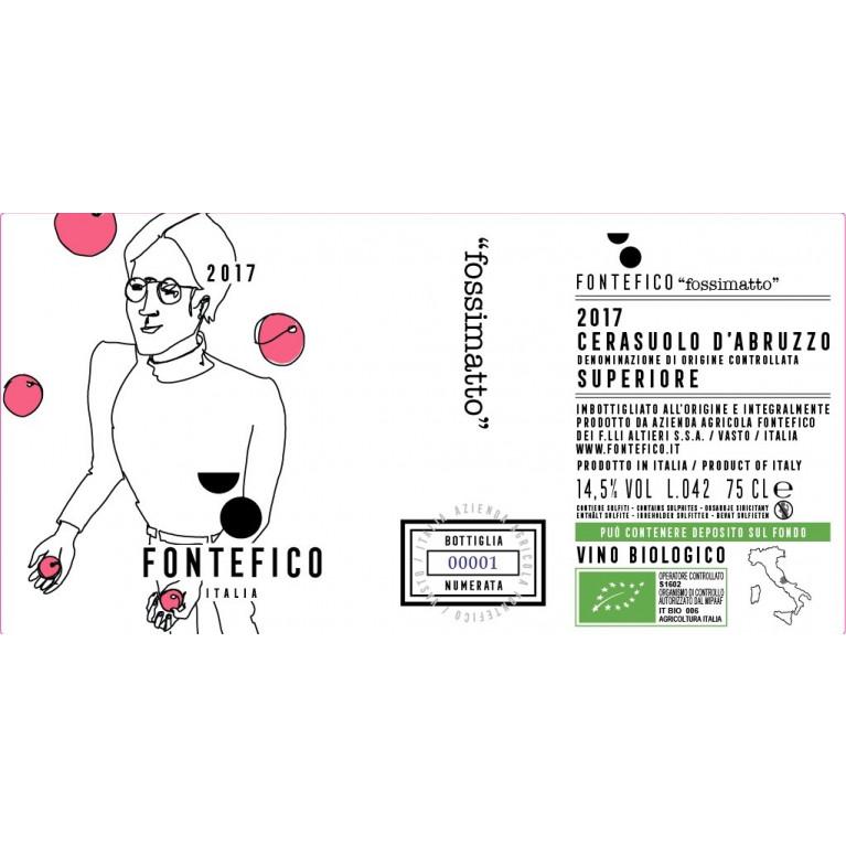 """Bottiglia VINO ROSATO CERASUOLO D'ABRUZZO SUPERIORE DOC """"FOSSIMATTO"""" 2016"""
