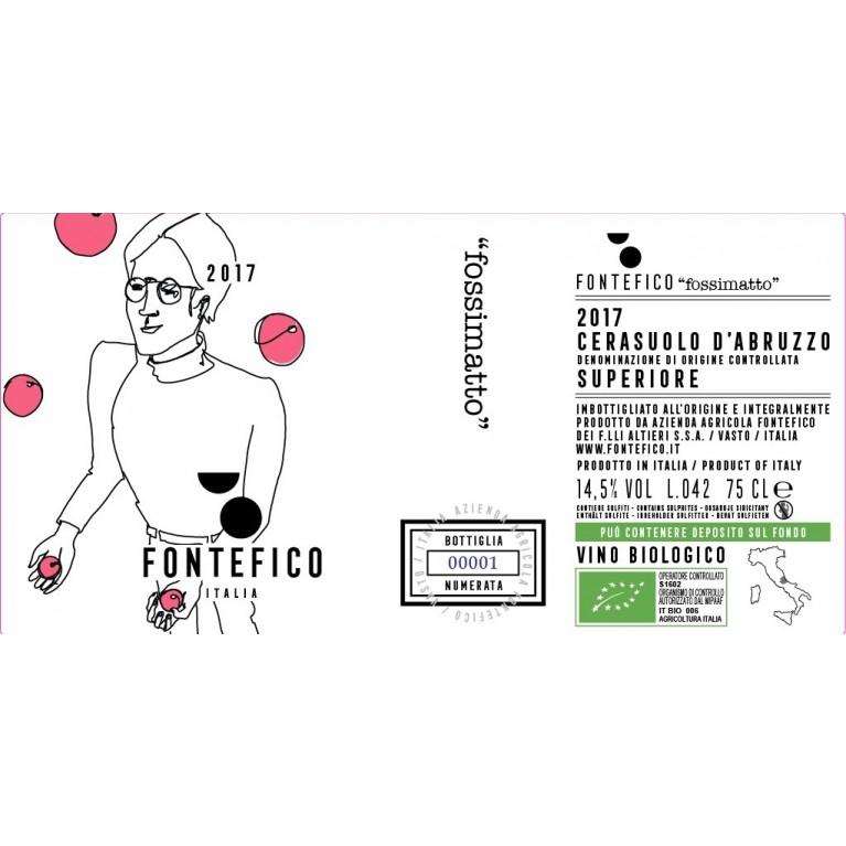 Cerasuolo d'Abruzzo DOC Superiore FOSSIMATTO Biologico 2016 - 3 Bottiglie