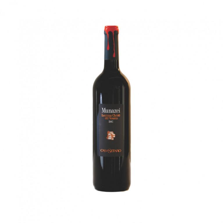 Bottiglia Munazei Lacryma Christi del Vesuvio Rosso DOC 2015