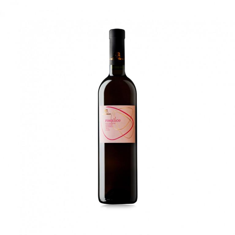 """Bottiglia Aglianico IGT """"ROSALICE"""" Roccamonfina Rosato 2014"""